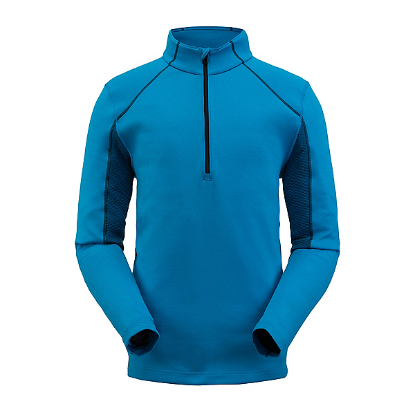 Spyder Halcyon Zip T-Neck Mens Mid Layer, Lagoon, 600