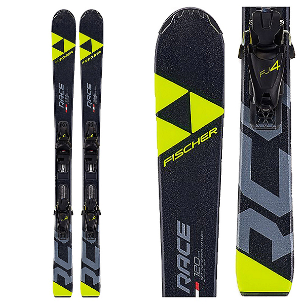 Fischer RC4 Race Jr. 4 Kids Skis with FJ4 GW AC SLR 80 Bindings 2020, , 600