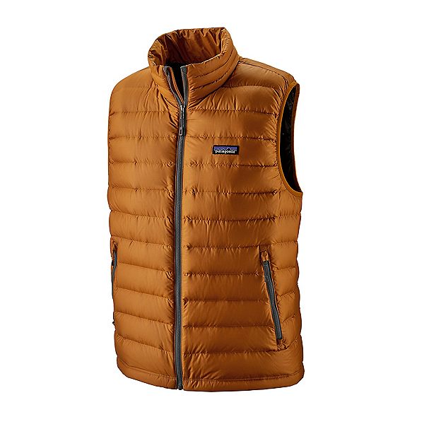 Patagonia Down Sweater Mens Vest, Hammonds Gold, 600