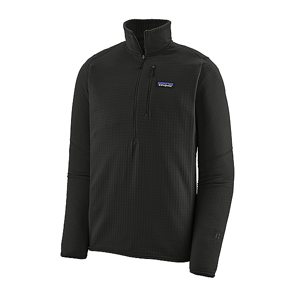 Patagonia R1 Pullover Mens Mid Layer, Black, 600
