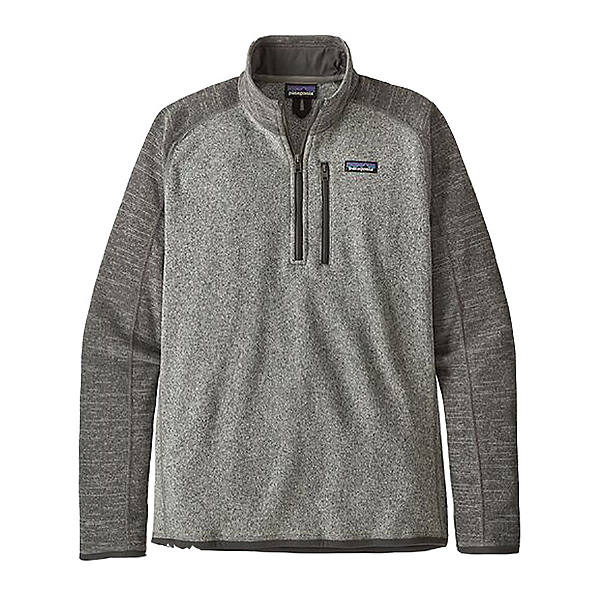 Patagonia Better Sweater 1/4 Zip Mens Mid Layer, Nickel W-Forge Grey, 600
