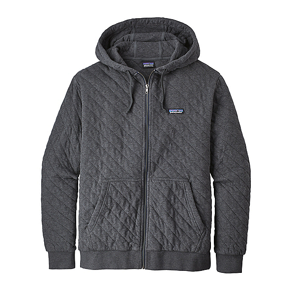 Patagonia Organic Cotton Quilt Mens Hoodie, Forge Grey, 600
