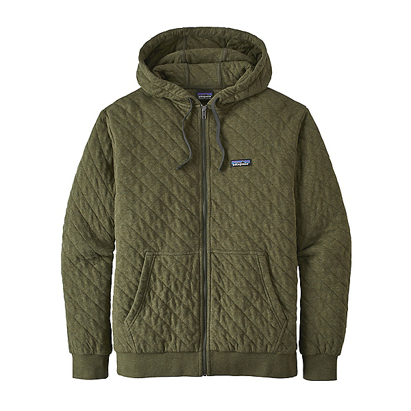 Patagonia Organic Cotton Quilt Mens Hoodie, Industrial Green, 600