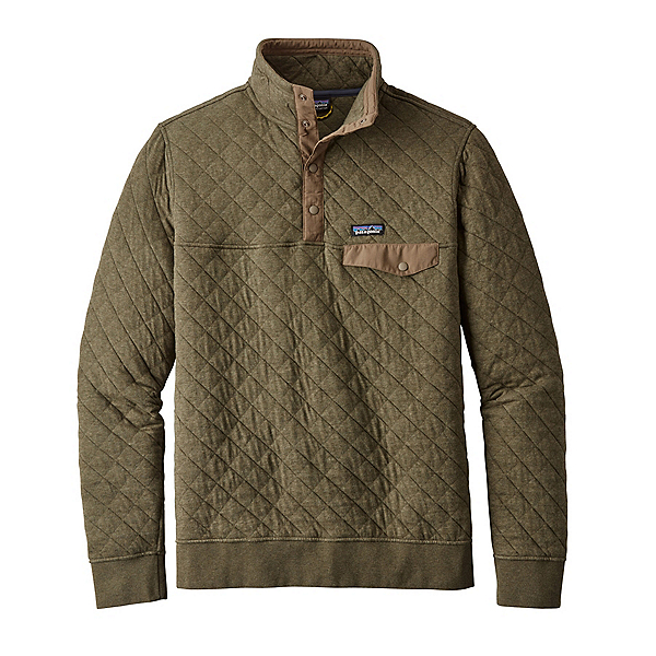 Patagonia Cotton Quilt Snap-T Mens Mid Layer, Industrial Green, 600