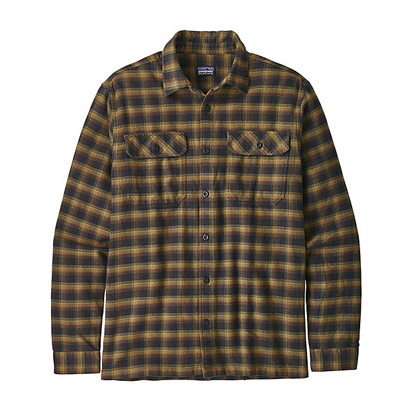 Patagonia Long Sleeve Fjord Flannel Shirt 2020, Castroville Ink Black, 600