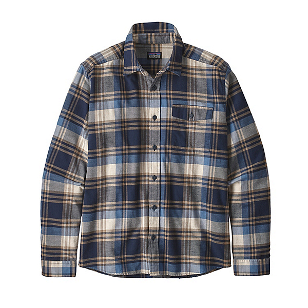 Patagonia Lightweight Fjord Flannel Shirt, Buttes New Navy, 600