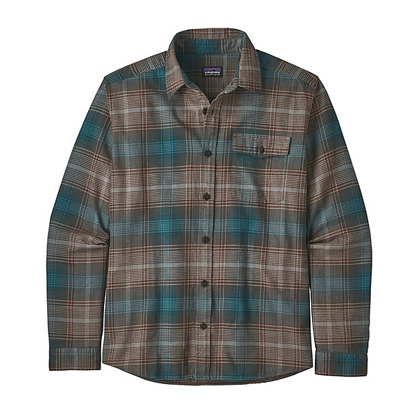 Patagonia Lightweight Fjord Flannel Shirt, Canopy Bristle Brown, 600