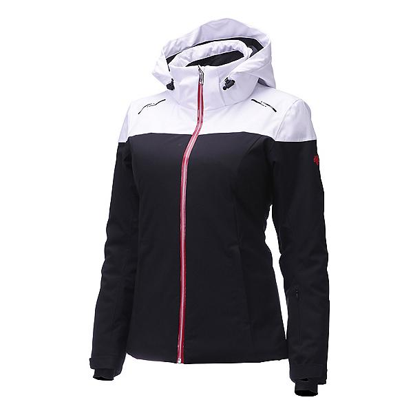 Descente Emilia Jacket Womens Insulated Ski Jacket, Black-Superwhite-Electric Red, 600
