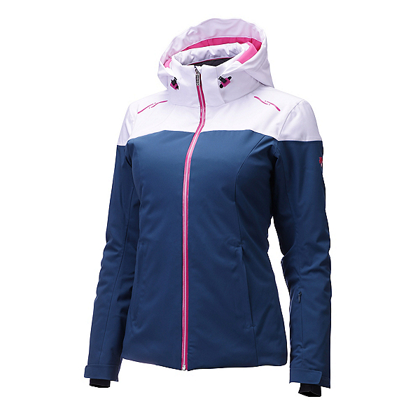 Descente Emilia Jacket Womens Insulated Ski Jacket, Petrol-Superwhite-Pink, 600