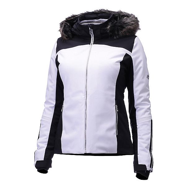 Descente Charlotte Jacket Womens Insulated Ski Jacket, Superwhite-Black, 600