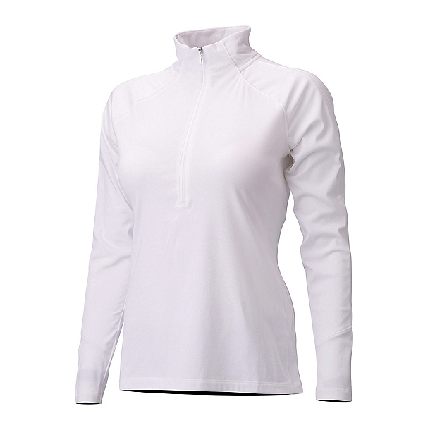 Descente Iclyn Zip Neck Womens Mid Layer, Super White, 600