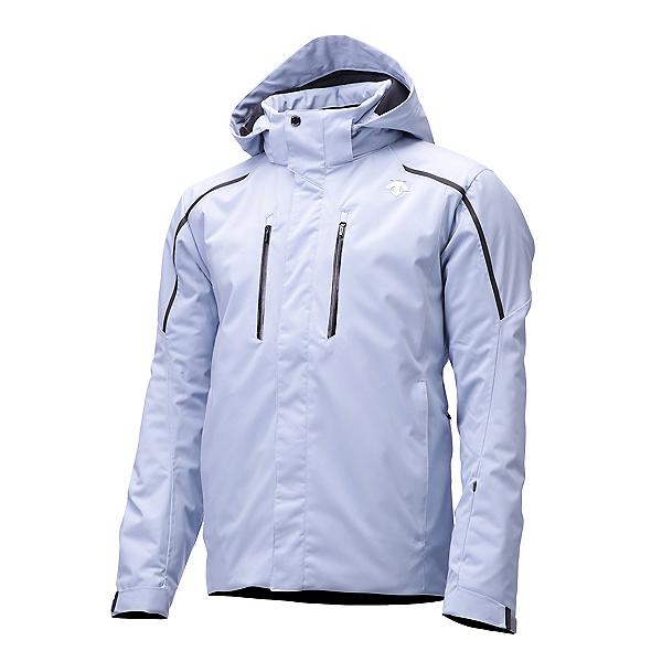 Descente Glade Jacket Mens Insulated Ski Jacket, Titanium-Black-Orange, 600