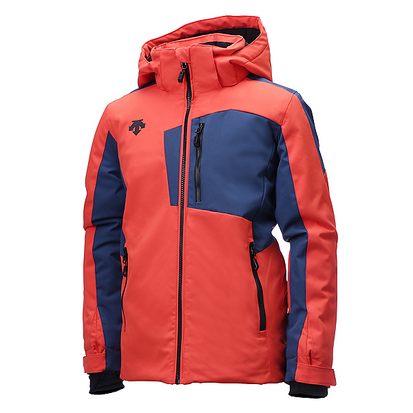Descente Kai Boys Ski Jacket, Orange-Pewter, 600