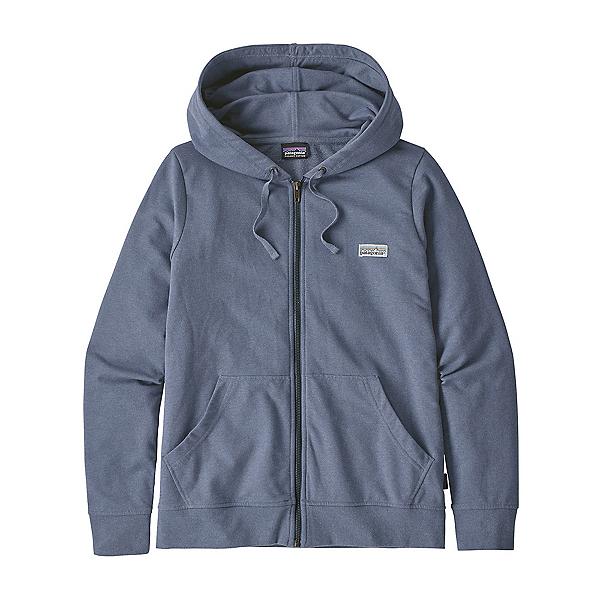Patagonia Pastel P-6 Label Ahnya Full Zip Womens Hoodie, Woolly Blue, 600
