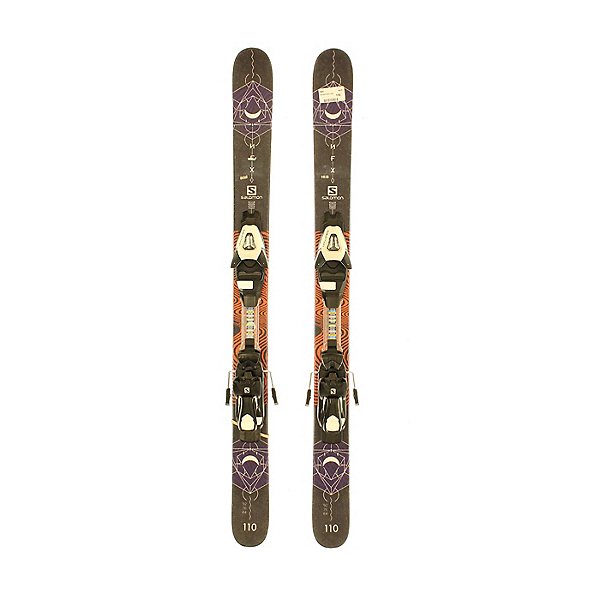 Used 2018 Salomon NFX Jr Park Pipe Skis SA Bindings A Condition, , 600