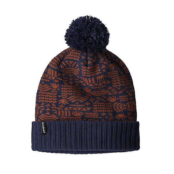 Patagonia Powder Town Beanie, Protected Peaks-Classic Navy, 600