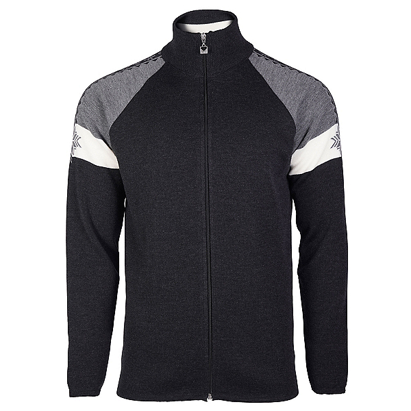 Dale Of Norway Geilo Jacket Mens Sweater, Dark Charcoal-Off White-Smoke, 600