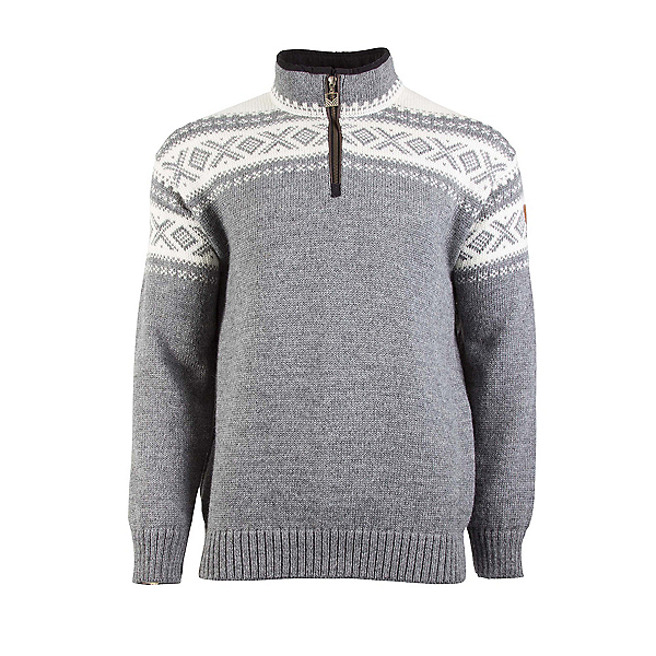 Dale Of Norway Cortina Half Zip Mens Sweater, Smoke-Off White, 600
