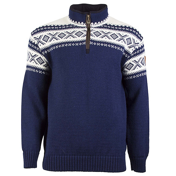 Dale Of Norway Cortina Half Zip Mens Sweater, Lightnavy-Offwhite, 600