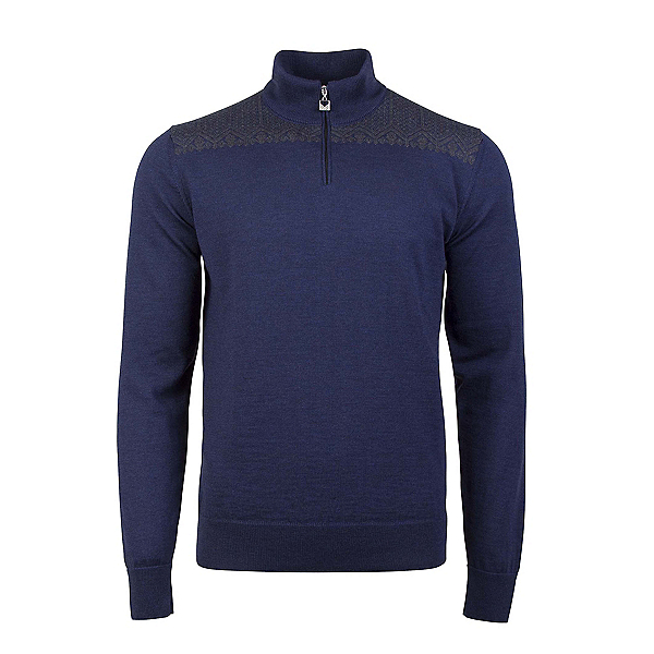 Dale Of Norway Eirik Mens Sweater, Navy Melange-Dark Grey Melange, 600