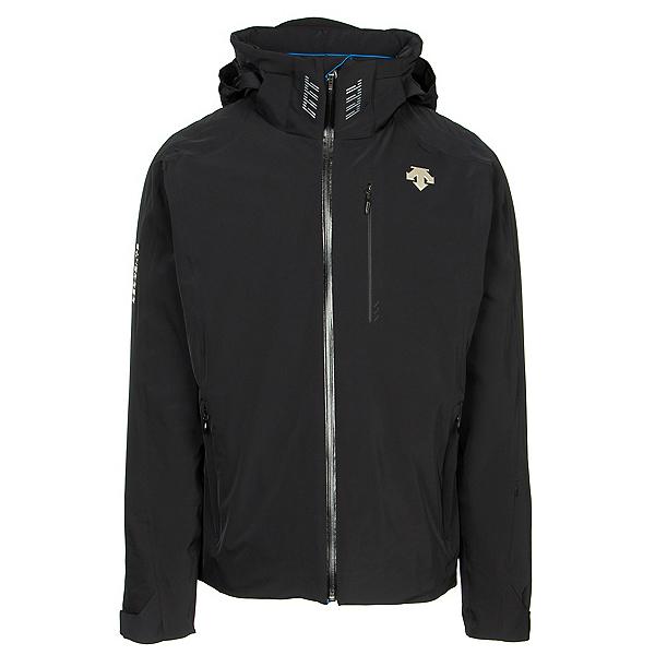 Descente Regal Mens Insulated Ski Jacket, Black-Victory Blue, 600