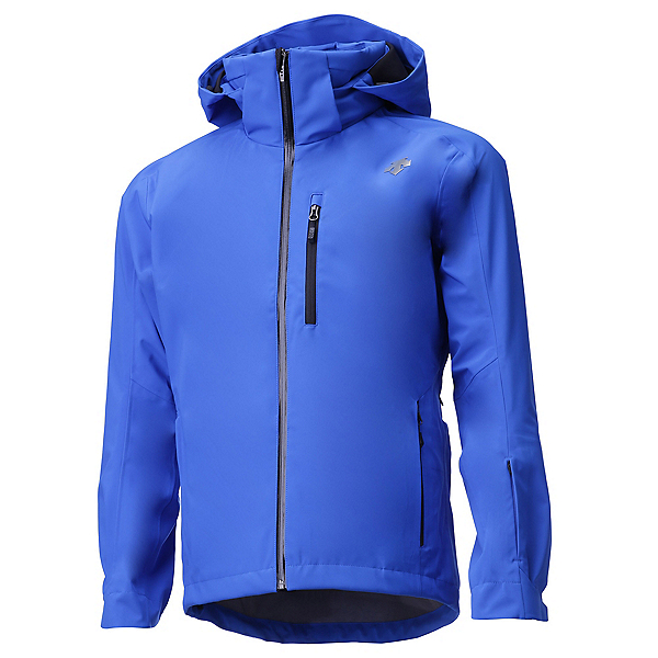 Descente Moe 3L Mens Shell Ski Jacket, Victory Blue-Black, 600