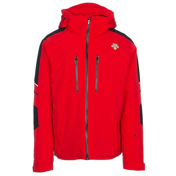 Descente Jurgen Mens Insulated Ski Jacket, Electric Red-Black-Superwhite, 600