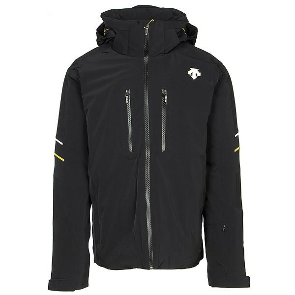 Descente Jurgen Mens Insulated Ski Jacket, Black-Yellow-Superwhite, 600