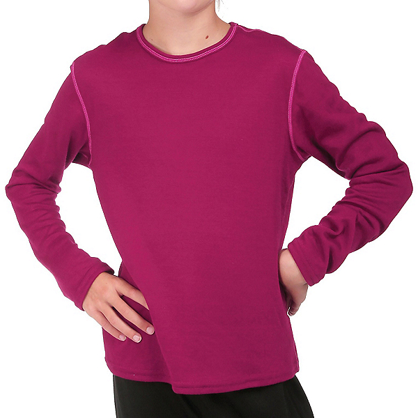 Hot Chillys Pepper Bi-Ply Crew Girls Long Underwear Top 2020, , 600