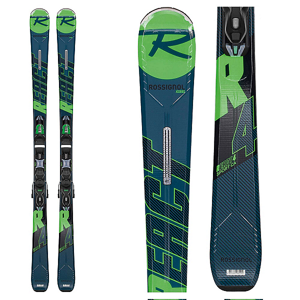 Rossignol React R4 Sport Skis with Xpress 10 Bindings 2020, , 600