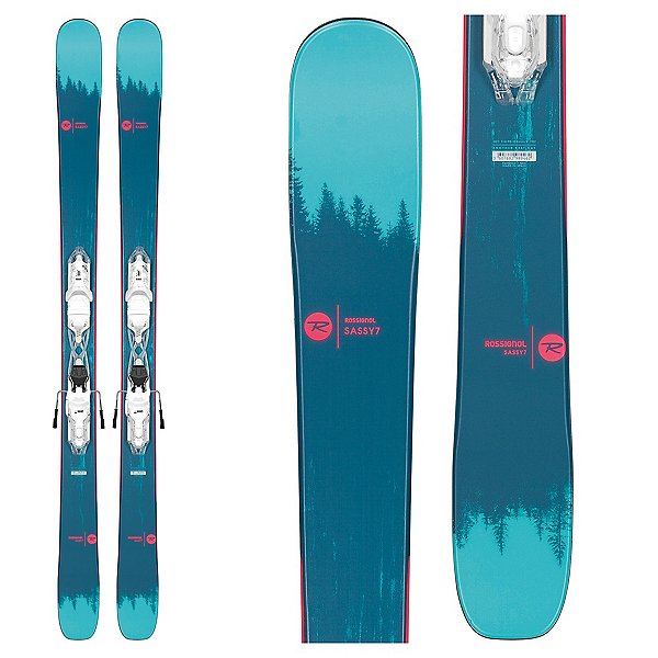Rossignol Sassy 7 Womens Skis with Xpress W 10 Bindings 2020, , 600