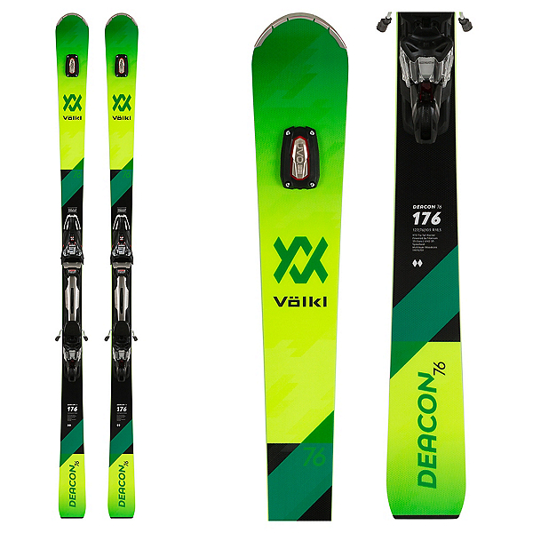 Volkl Deacon 76 Skis with rMotion2 12 Bindings 2020, , 600
