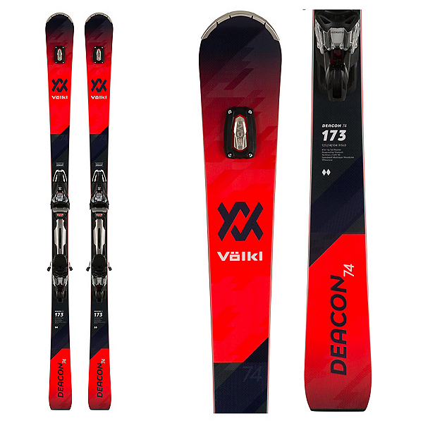 Volkl Deacon 74 Skis with rMotion2 Bindings, , 600