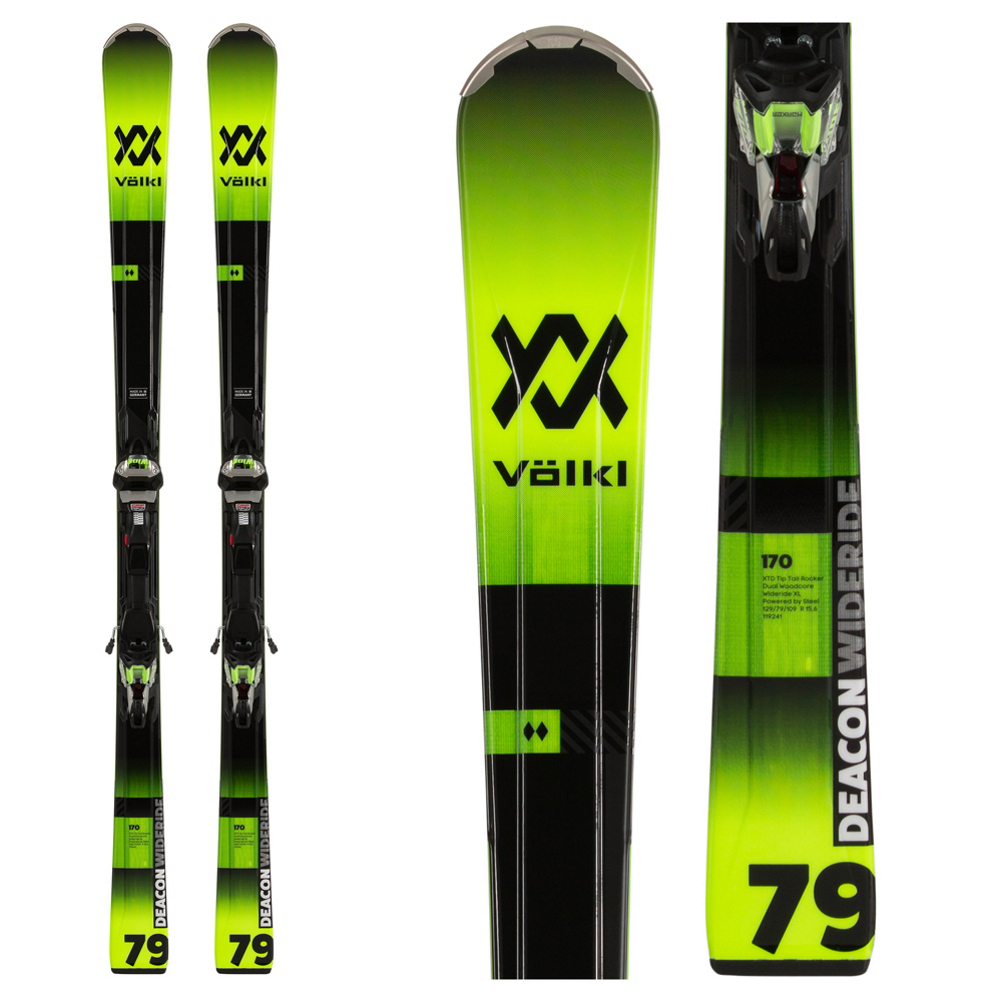 Volkl Deacon 79 Skis with IPT WideRide XL 12 Bindings 2020