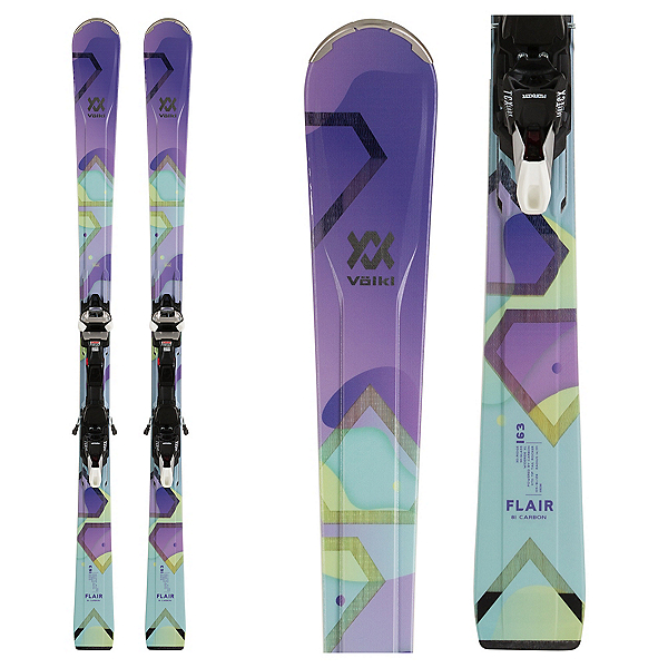 Volkl Flair 81 Carbon Womens Skis with IPT WideRide XL 11 Bindings 2020, , 600