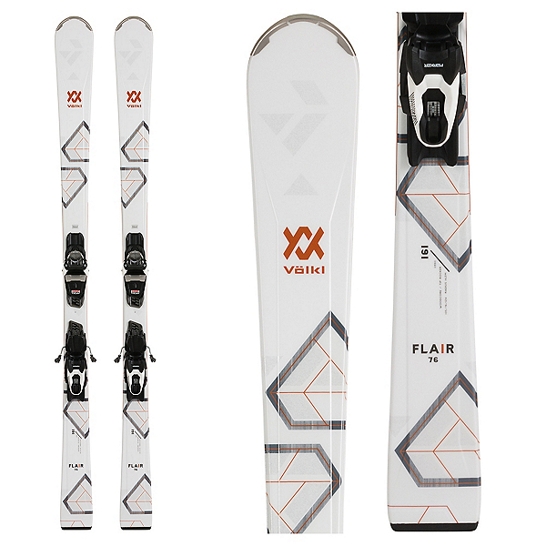 Volkl Flair 76 Womens Skis with vMotion1 10 Bindings 2020, , 600