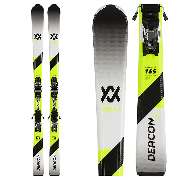 Volkl Deacon 8.0 Skis with FDT TP 10 Bindings, , 600