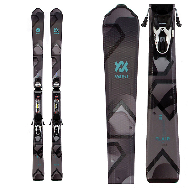 Volkl Flair 8.0 Womens Skis with FDT TP 10 Bindings 2020, , 600
