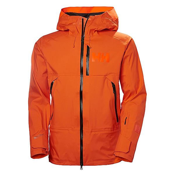 Helly Hansen Sogn Mens Shell Ski Jacket, Bright Orange, 600