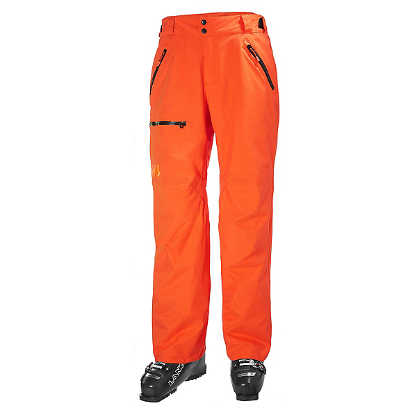 Helly Hansen Sogn Cargo Mens Ski Pants, Bright Orange, 600