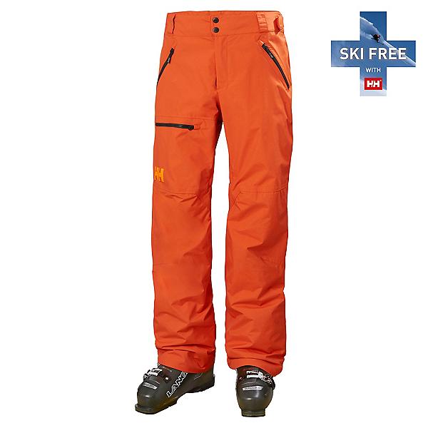 Helly Hansen Sogn Cargo Mens Ski Pants, Patrol Orange, 600
