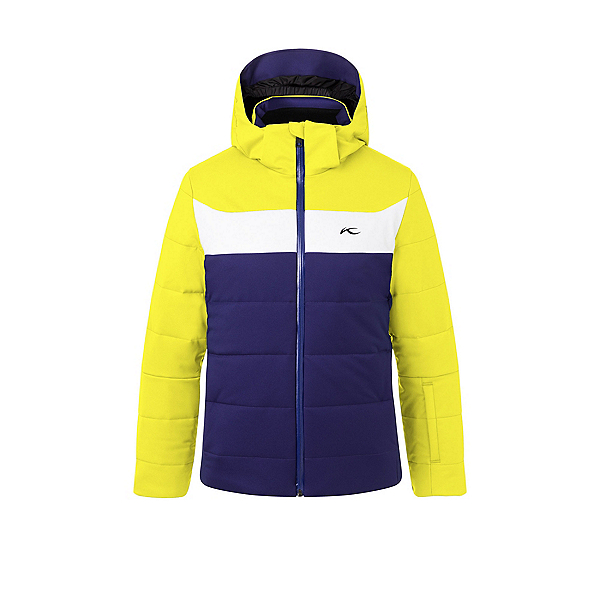 KJUS Downforce Boys Ski Jacket, Into The Blue-Citric Yellow, 600