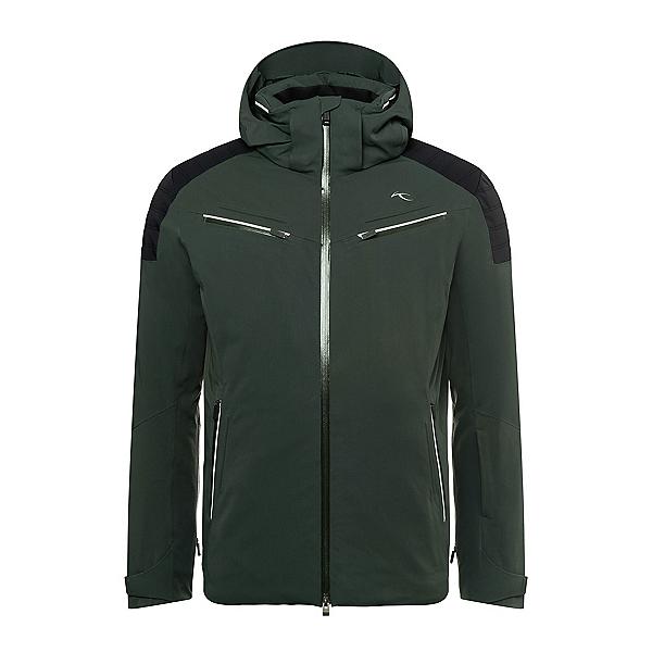 KJUS Formula Mens Insulated Ski Jacket, Dark Jet Green-Black, 600