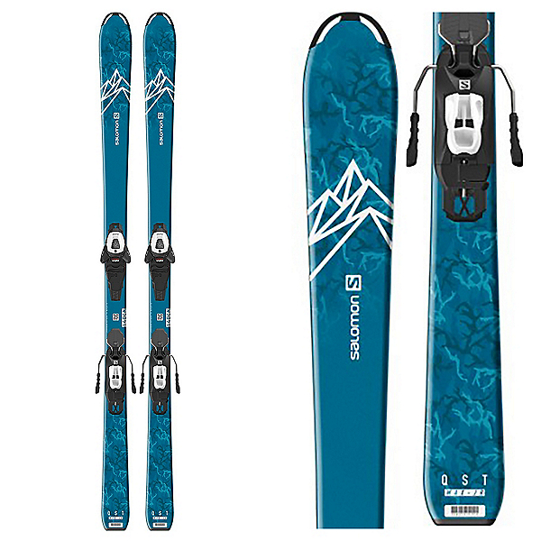Salomon QST Max Jr M Kids Skis with L6 GW J2 Bindings 2020, , 600