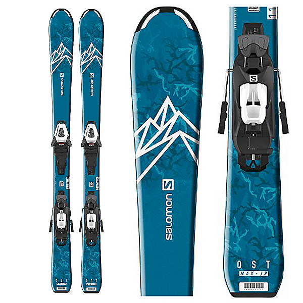 Salomon QST Max Jr S Kids Skis with C5 GW Bindings 2020, , 600