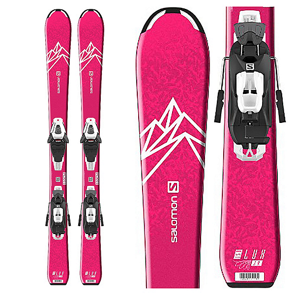 Salomon QST Lux Jr S Kids Skis with C5 GW Bindings 2020, , 600
