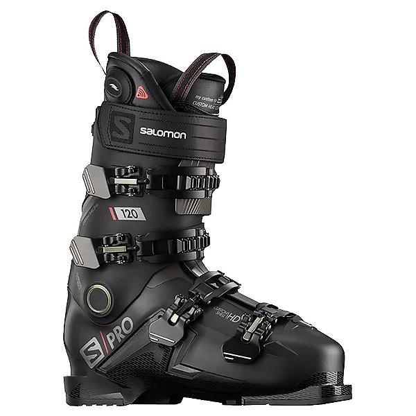 Salomon S/Pro 120 CHC Ski Boots, Black-Belluga-Red, 600