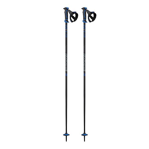 Salomon X10 Ergo S3 Ski Poles 2020, Black-Blue, 600