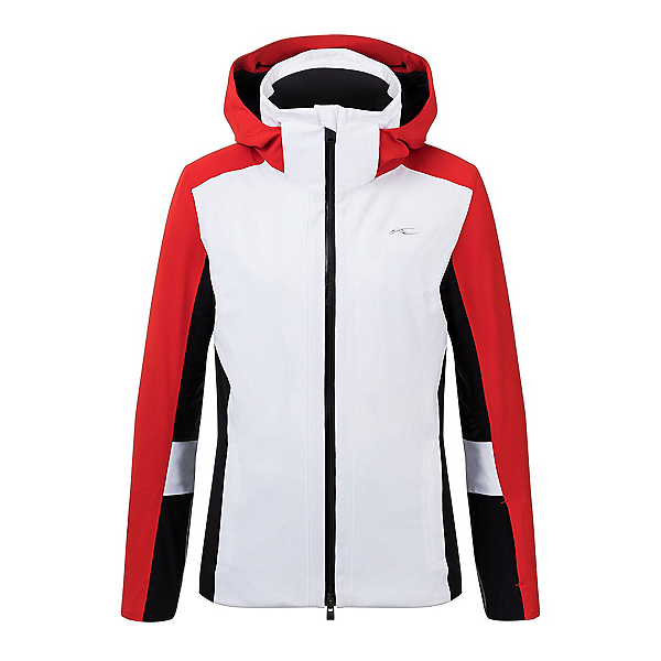 KJUS Laina Womens Insulated Ski Jacket 2020, White-Fiery Red, 600