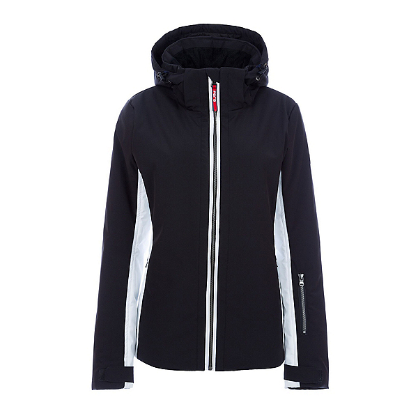 FERA Kendall Womens Insulated Ski Jacket, Black-White, 600